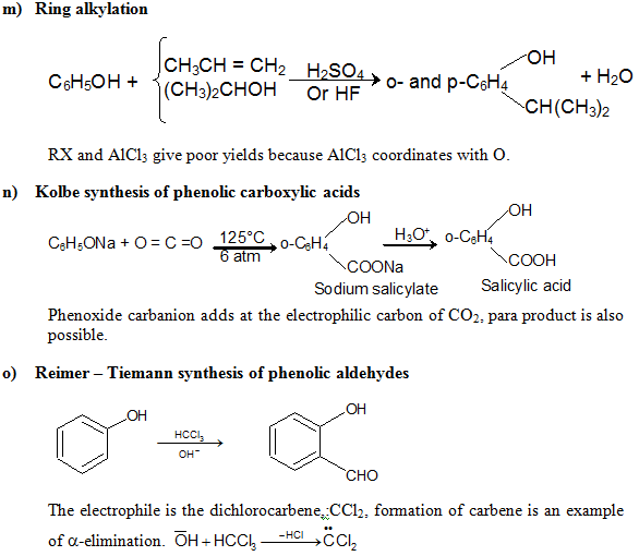 Revision Notes on Alcohols, Phenols and Ether | askIITians