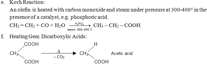 Revision Notes on Aldehyde, Ketones & Carboxylic Acids
