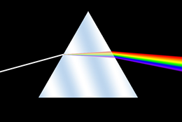 A White Light Dispersed Through a Prism