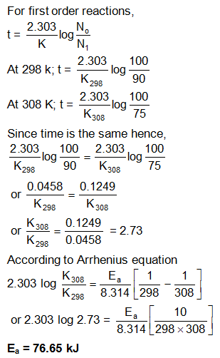 Solved Examples – Chemical Kinetics | askIITians