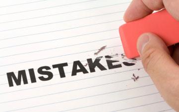 Avoiding mistakes