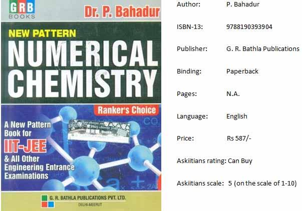 Numerical Chemistry by P. Bahadur