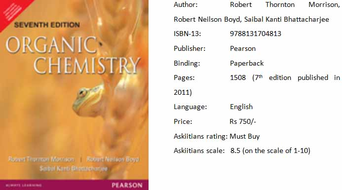 Morrison Organic Chemistry is one of the best books for JEE preparation!