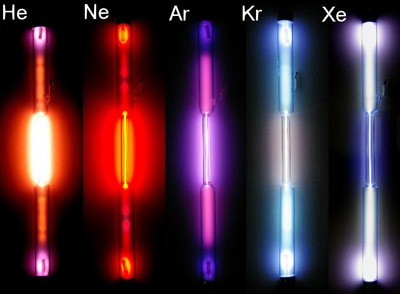 All group 18 elements glow in dark