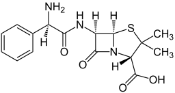 Structure of Ampicillin