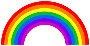 Set of all colors of rainbow