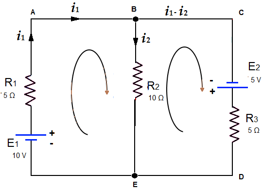 Solving the circuit by KCL and KVL