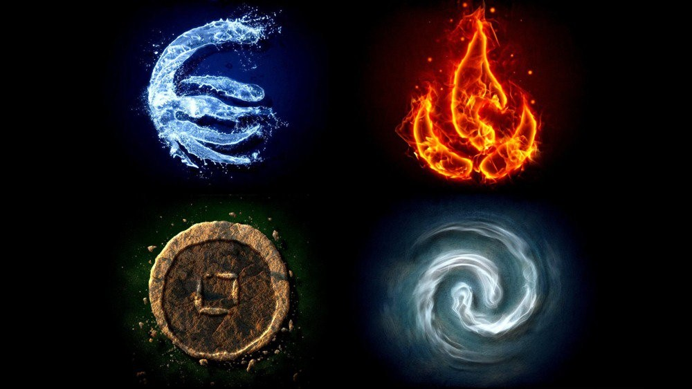 Four elements by Aristotle
